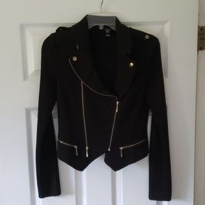 Windsor Black Zippered Blazer